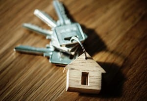 Keys with home keychain
